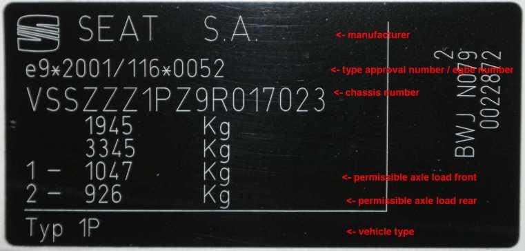 tjek bil stelnummer